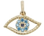 9ct Gold Evil Blue Eye Pendant