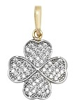 9ct Gold 4 Leaf Clover Pendant