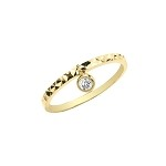 9ct Gold CZ Dangle Ring