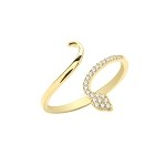 9ct Gold Cubic Snake Wrap Ring