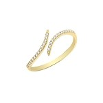 9ct Gold Ladies Cubic Zirconia Wrap Ring