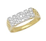 9ct Gold Cubic Zirconia Nan Ring