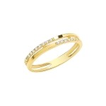 9ct Gold Double Band Cubic Ring