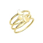 9ct Gold Triple Band Ring