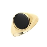 9ct Gold Oval Black Onyx Ring