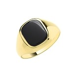 9ct Gold Cushion Black Onyx Ring